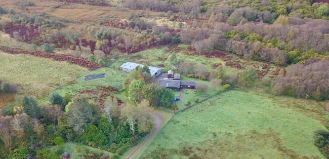 Ardrioch arial view                                                 house and woods