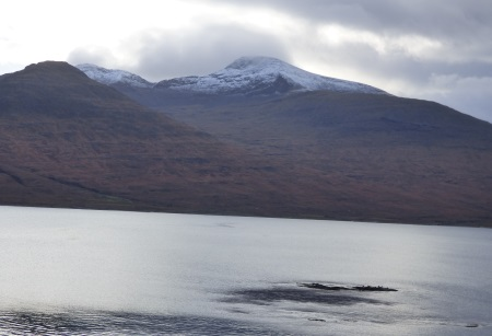 ben More with a                                               sprinkle of snow