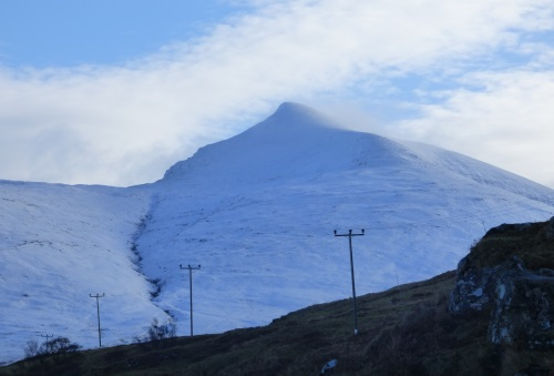 Ben More covered in snow