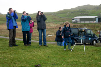 Guests on a                             Discover Mull tour