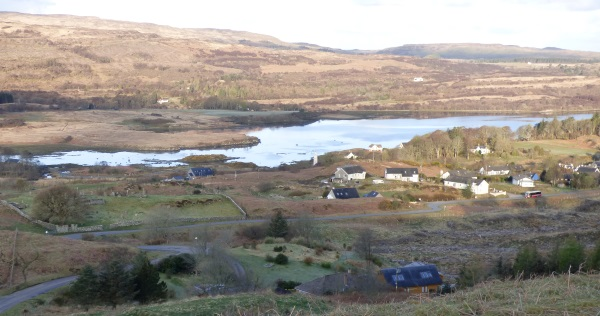 Dervaig from the top of the                                     hill