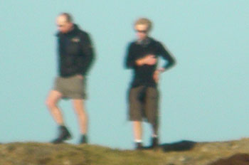 Walkers in shorts